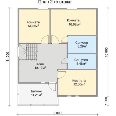 Планировка Аврора 2К