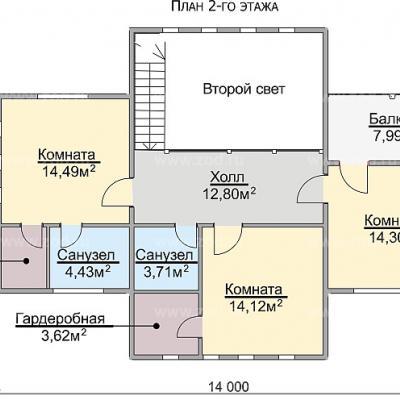 Планировка Каскад 3К