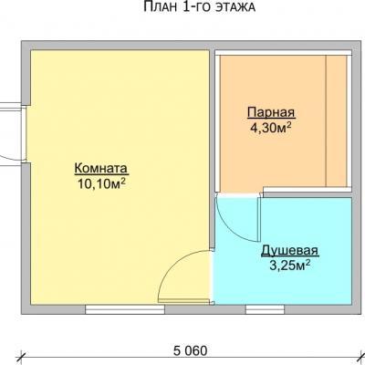 Планировка Баня 4.0x5.0 Б