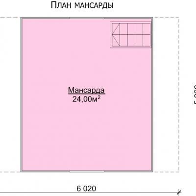 Планировка Баня 6.0x5.0 Б