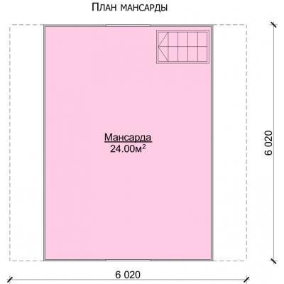 Планировка Баня 6.0x6.0 Б