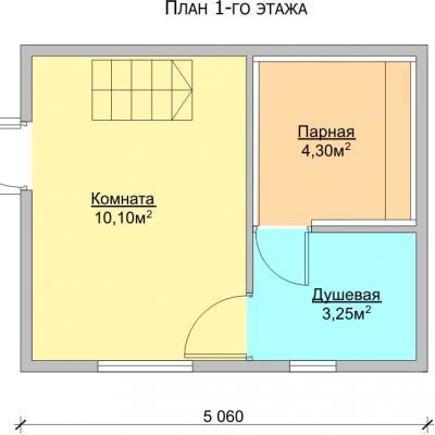 Планировка Баня 5.0x4.0 Б