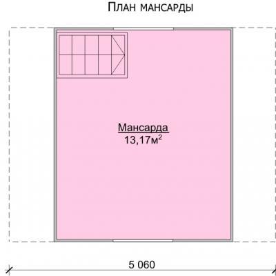 Планировка Баня 5.0x4.0 К