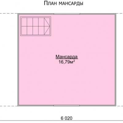Планировка Баня 6.0x4.0 К