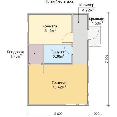 Планировка Спутник 1К