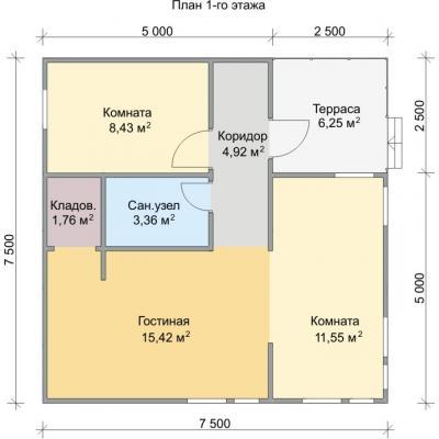 Планировка Спутник 1.1К