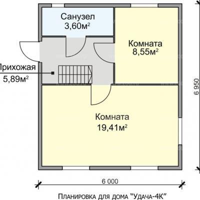 Планировка Успех K 150 6х7