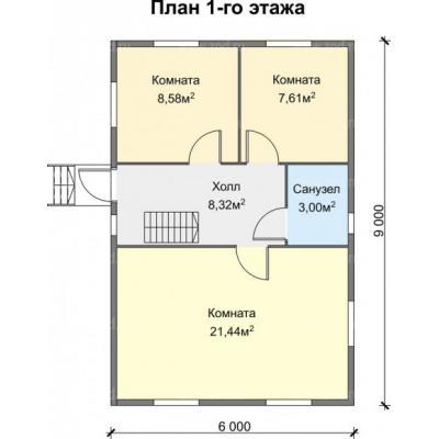 Планировка Успех K 150 6х9