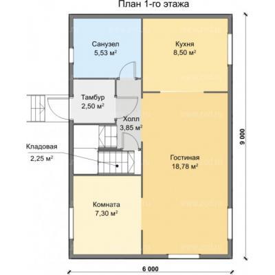 Планировка Комфорт К- 150 6х9