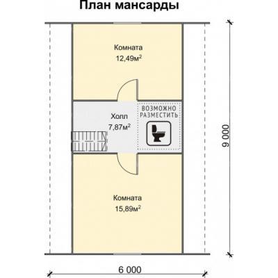 Планировка Успех Б 150 6х9