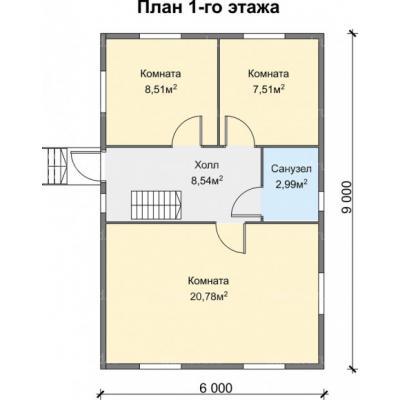 Планировка Успех Б 150 ЛК 6х9