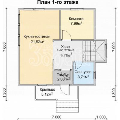 Планировка Триумф 1К