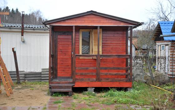 Примеры работ Зодчий - дом Бытовка 3.0×2.0 + терраса 3.0×1.0