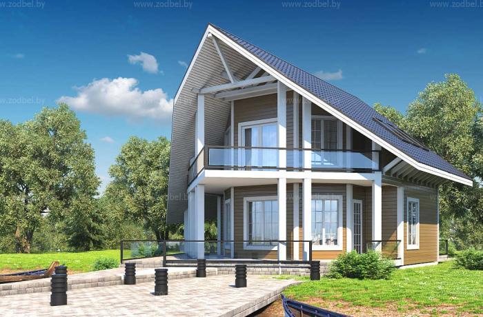 Дом у реки 9.0 x 12.0